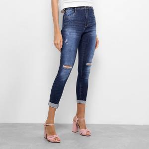 Calça Jeans Skinny Zune Rasgo Feminina - Jeans R$60