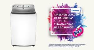 Lavadora de Roupas Panasonic 16 Kg NA-F160 Espuma Ativa Branca - R$ 1.399,00