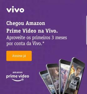 Amazon Prime 3 mês grátis para clientes VIVO