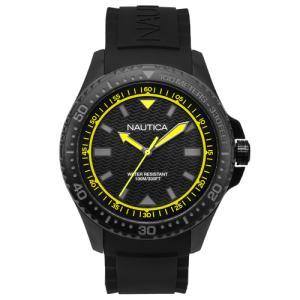 Relógio nautica masculino borracha preta - napmau006 - R$343