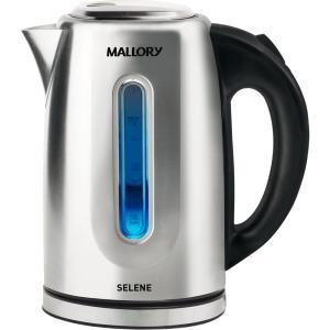 Chaleira Mallory Selene em Aço Inox, 1,7 Litros, Filtro Removível - B9870024 - R$109