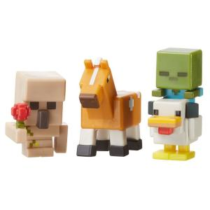 Figuras Minecraft Mattel - Pack com 3, Série 5 Gelo - R$8