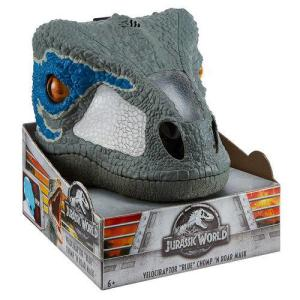 Máscara Eletrônica Velociraptor Blue Mattel Chomp 'n Roar | R$173,76