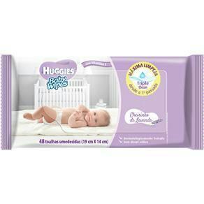 Lenços Umedecidos Huggies Baby Wipes Cheirinho de Lavanda - 48 Unidades | R$4
