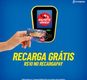 R$10 OFF na recarga do bilhete único no RecargaPay