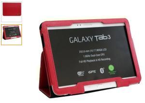 """Case Em Couro Sintético Quest Cg103v Vermelho Para Samsung Galaxy Tab 3 10.1"""" - R$ 1"""