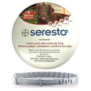 Coleira Antipulgas e Carrapatos Seresto Cães Acima de 8kg - R$213