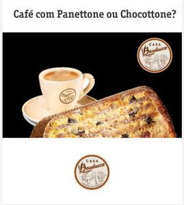 [Clientes Vivo] Panettone ou Chocottone grátis na compra de um café expresso