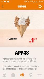 Casquinha Burger King R$1,50