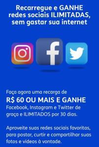 Tim Pré C/ Redes Sociais Ilimitado R$60