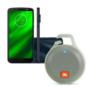 Smartphone Motorola Moto G6 Play 32GB - Índigo + Caixa de Som Bluetooth JBL R$1.289