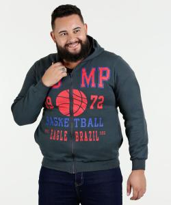 Casaco Masculino Moletom Estampado Plus Size Eagle Brazil - R$33