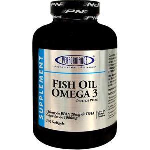 Ômega 3 1000mg - 100 Cápsulas - Performance Nutrition Fish Oil Ômega 3 1000mg (100 Caps) - Performance Nutrition