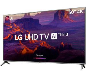 "Smart TV LED 50"" LG 50UK6510 Ultra HD 4k com Conversor Digital 4 HDMI 2 USB Wi-Fi ThinQ AI WebOS 4.0 60Hz Inteligencia Artificial - Prata"