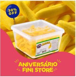 Bala Fini Bananas Açucaradas Pote - 685g - R$15