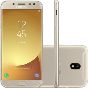 "Smartphone Samsung Galaxy J5 Pro Dual Chip Android 7.0 Tela 5,2"" Octa-Core 1.6 GHz 32GB 4G Câmera 13MP - Dourado | R$800"
