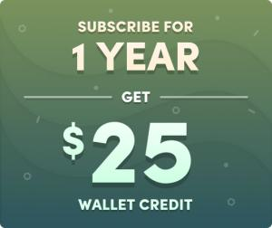 Assine o plano anual e ganhe R$101 pra gastar na loja