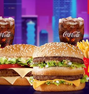 McDonald's Passa no Drive - McOferta Média Big Mac + McOferta Média Big Tasty - R$40,00