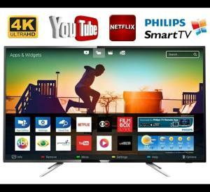 Smart TV LED 55'' Philips 55PUG6102/78 Ultra HD 4K com Conversor Digital, 4 HDMI, 2 Usb Wi-fi, 60hz