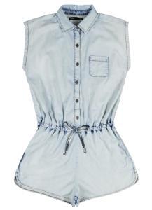 Macaquinho Jeans Azul Gloss R$60