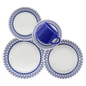 Aparelho de Jantar Chá 20 peças em Cerâmica Donna Grécia - Biona - R$119