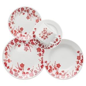 Aparelho de Jantar Chá 20 peças em Cerâmica Donna Jardim Oriental - Biona - R$119