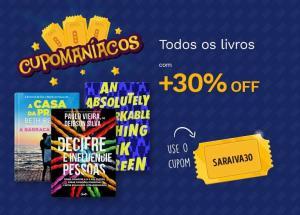 30% de desconto em TODOS os livros da Saraiva