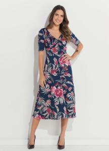 Vestido Quintess Midi Floral R$80
