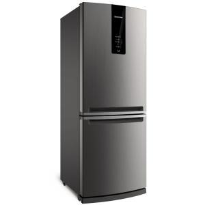 Refrigerador Brastemp Inverse BRE57AK Frost Free com Painel Eletrônico 443L - Evox - R$ 2690