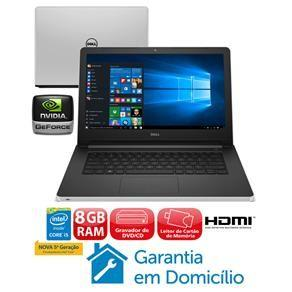 "Notebook Dell Core i5-5200U 8GB 1TB Placa Gráfica 2GB Tela 14"" Windows 10 Inspiron I14-5458-B40"