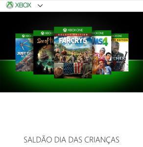 Saldão de jogos para Xbox 360/Xbox One