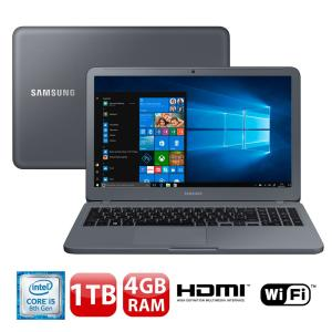"Notebook Samsung Core i5-8250U 4GB 1TB Tela Full HD 15.6"" Windows 10 Expert X20 NP350XAA-KFWBR - R$2088"