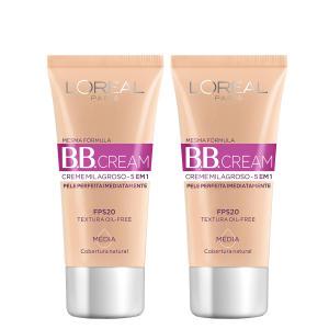 Kit BB Cream L'Oreál Paris Dermo Expertise Base Média 30ml 2 Unidades - R$26