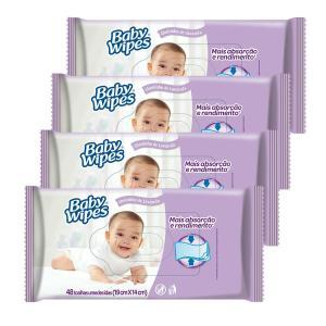 Kit de Lenços Umedecidos Huggies Baby Wipes Lavanda - 192 Unidades