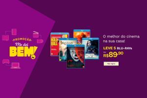 5 Blu-Rays por R$90