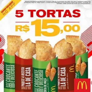 5 Tortas no McDonald's - R$15