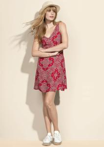 Vestido Regata Estampado Vermelho | R$50