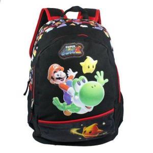 Mochila Super Mario - Preto e Vermelho