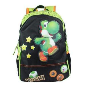 Mochila Super Mario Yoshi - Preto e verde