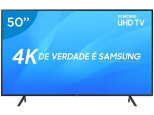 "Smart TV LED 50"" Samsung 4K/Ultra HD NU7100 - Tizen Conversor Digital Wi-Fi 3 HDMI 2 USB DLNA - R$2849"
