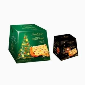 Kit Panettone com Frutas 400g e Mini Panettone Chocolate Belga 80g Santa Edwiges R$ 13,96