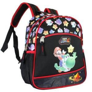 Mochila Infantil Super Mario - Preto e Vermelho