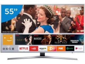 "Smart TV LED 55"" Samsung 4K Ultra HD 55MU6400 - R$ 2999"