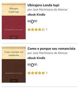 eBook grátis - Dois título de José Martiniano de Alencar