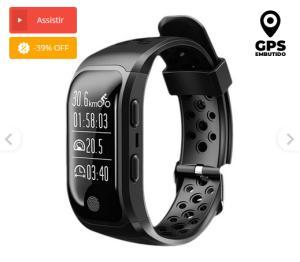 Relógio Inteligente Amphibious com GPS integrado - Preto - R$217