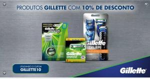Produtos gillette com 10% de desconto no Carrefour