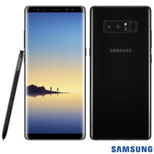 "Samsung Galaxy Note 8 Preto, com Tela de 6,3"" 64 GB - SM-N950FZKJZTO - SGSMN950FPTO - R$2489"