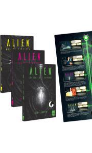 Trilogia Livros Alien + Pôster