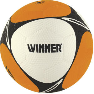 Mini Bola Winner - laranja e branca | R$23