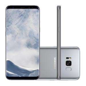 "Smartphone Samsung Galaxy S8+ SM-G955FD 64GB Prata 4G Tela 6.2"" Câmera 12MP Android 7.0 | R$2.199"